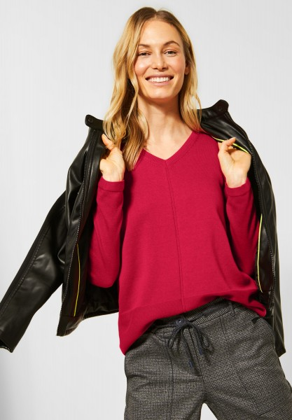 CECIL - Basic-Style Pullover in Hibiscus Red