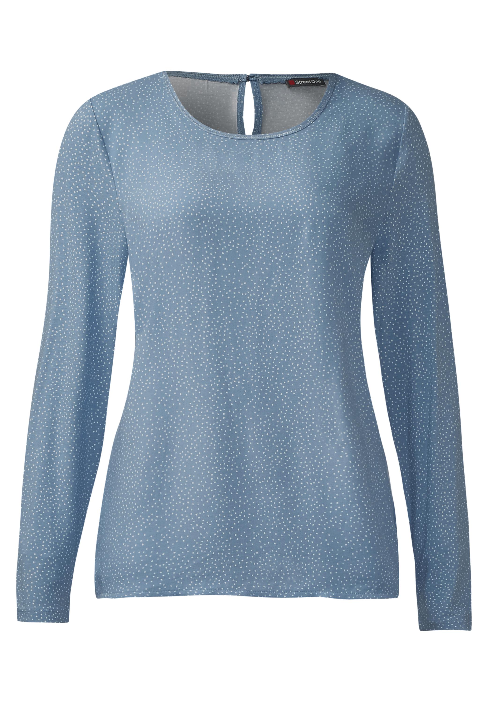 d5eed3707f510b Vorschau: Street One - Shirt mit Punkten Ingrid Sterling Blue ...