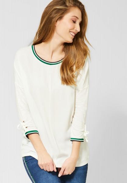 CECIL - Shirt mit Ärmeldetail in Pure Off White