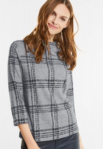 Street One - Cosy Turtleneck Shirt in Ice Blue