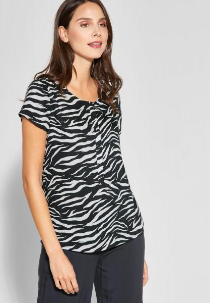 Street One - Zebra-Look T-Shirt Vivian in Off White