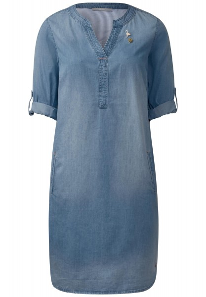 CECIL - Sportives Denimkleid in Mid Blue Wash