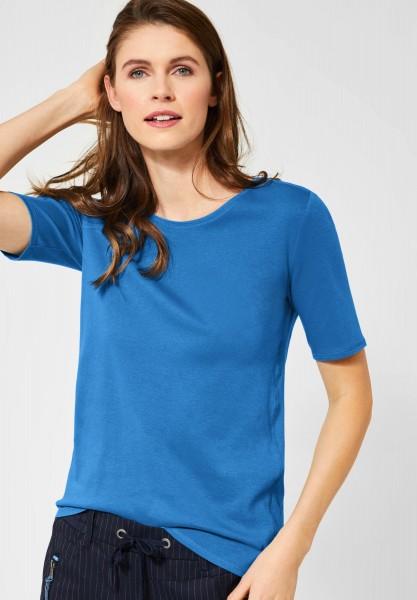CECIL - Organic Halbarmshirt Lena in Vivid Blue