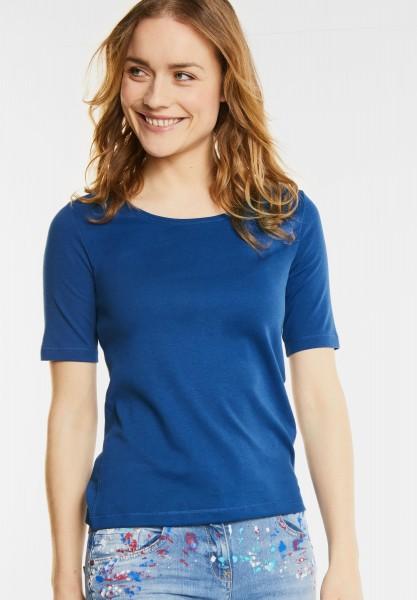 CECIL - Basic Halbarmshirt Lena in Cobalt Blue
