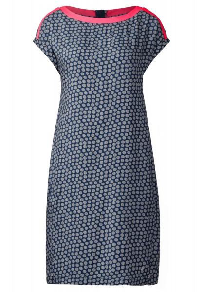 CECIL - Sportives Kleid mit Punkten in Deep Blue