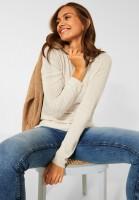 CECIL - Basic Pullover in Birch White Melange
