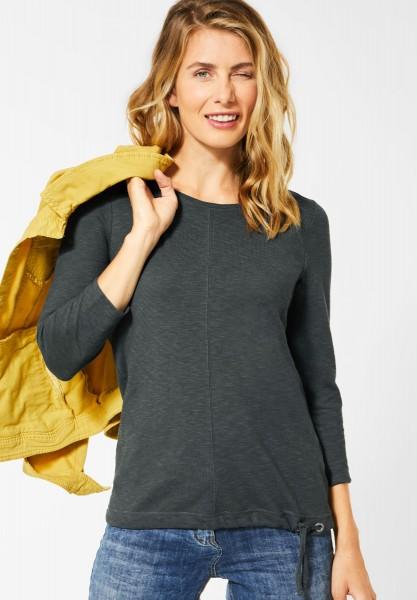 CECIL - Shirt in Strick-Optik in Slate Green