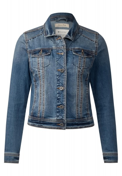 Street One - Jeansjacke Yanina in Authentic Indigo Blue Wash