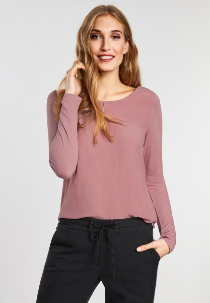 CECIL - Softes Shirt mit Cut-Out in Soft Rose