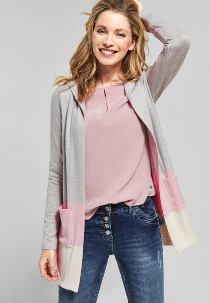 CECIL - Softe Shirtjacke mit Kapuze in Soft Rose Melange