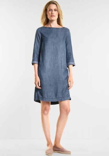 CECIL - Denim Kleid in Mid Blue Used Wash