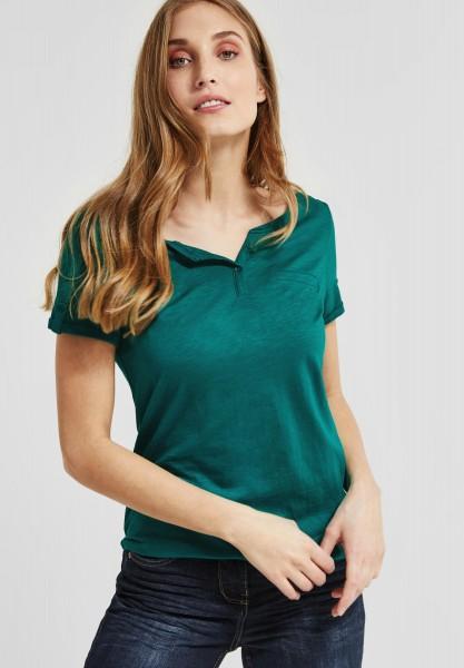 CECIL - Basic Shirt Jule in Amazonia Green