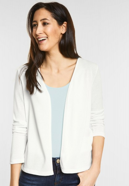 Street One - Open Style Cardigan Nette in Off White