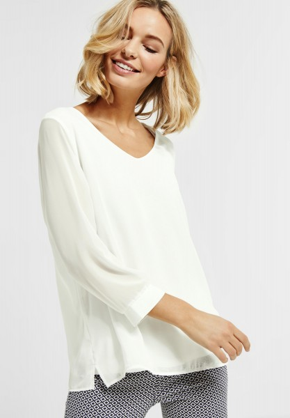 Street One - Zweilagiges Shirt Rafaela in Off White