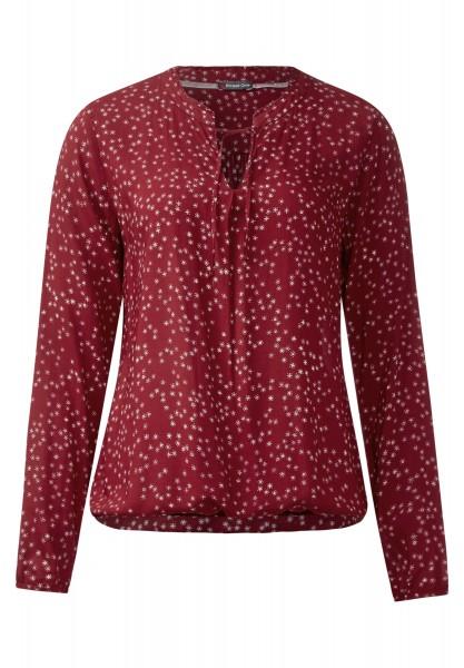 Street One - Bluse mit Blumen Jedwina Vintage Red