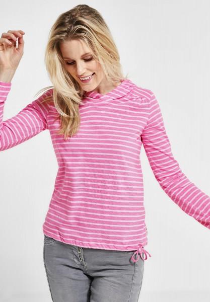 CECIL - Baumwoll Shirt mit Streifen in Bubblegum Pink