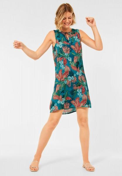 CECIL - Kleid mit Hawaii Print in Cool Lagoon Blue