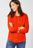Street One - Uni Bluse Vivian in Lava Red