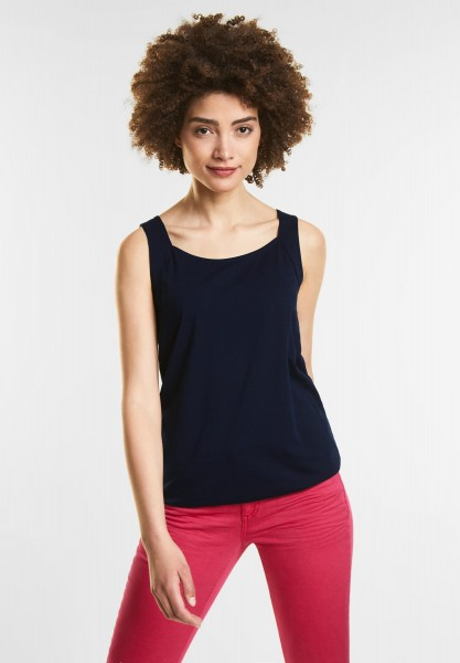 Street One - Top im Basic Style in Deep Blue