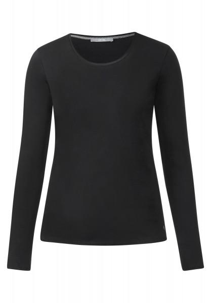 CECIL - Basic Langarmshirt Pia Black