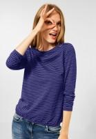 CECIL - Shirt mit Streifen Muster in Cosmic Blue