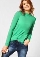 CECIL - Rollkragenshirt in Unifarbe in Cool Light Mint Green