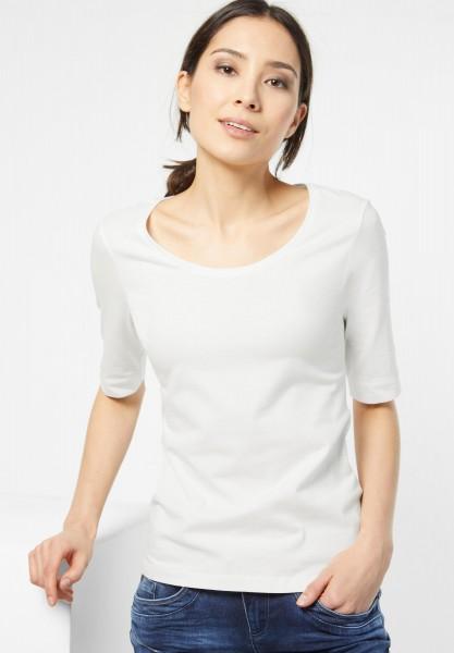 Street One - Organic Halbarm Shirt Lenka in Off White