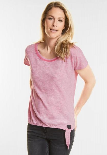 CECIL - Feminines Pailletten Shirt in Galaxy Pink Melange