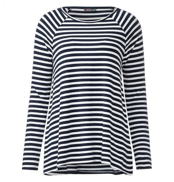 Street One - Oversize-Streifenshirt Vilia in Grau