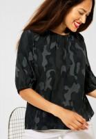 Street One - Bluse mit Raglan Ärmel in Carbon Grey