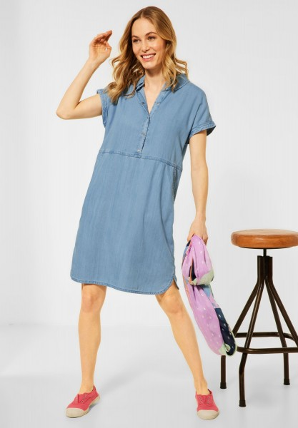 CECIL - Kleid in Lyocell in Light Blue Wash