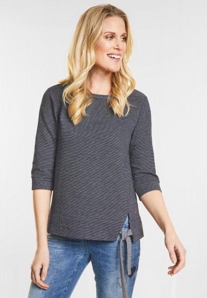 CECIL - Doubleface Sweatshirt in Deep Blue