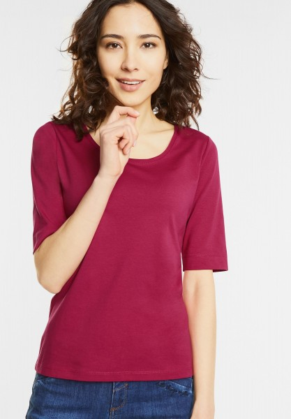 Street One - Organic Halbarm Shirt Lenka in Passion Pink