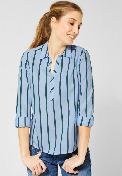 CECIL - Chambray Bluse mit Streifen in Blouse Blue