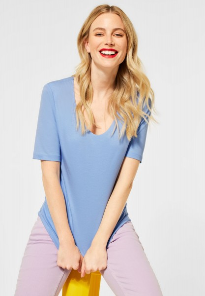 Street One - Basic Shirt Palmira in Mid Sunny Blue