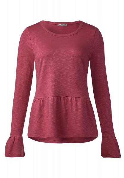 Street One - Shirt mit Volants Kathleen in Fuchsia Blush