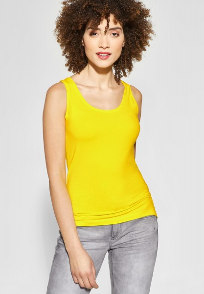 Street One - Organic Rundhalstop Bethy in Sunshine Yellow