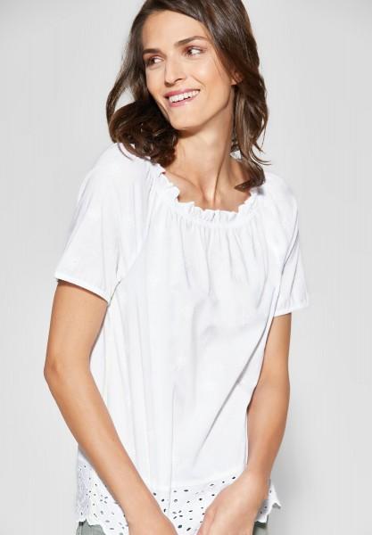 CECIL - Bluse mit Stickerei in White