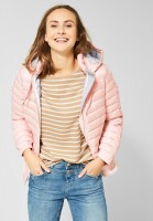 Street One - Gesteppte Jacke mit Kapuze in Misty Rose