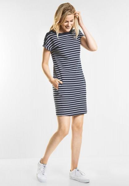 CECIL - Lässiges Streifen Kleid in Deep Blue