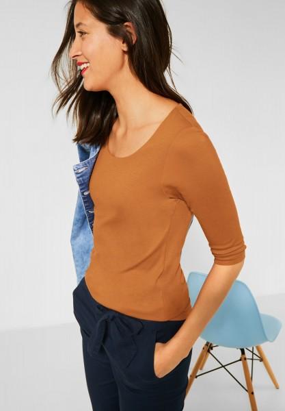 Street One - Basic Shirt Pania in Foxy Caramel