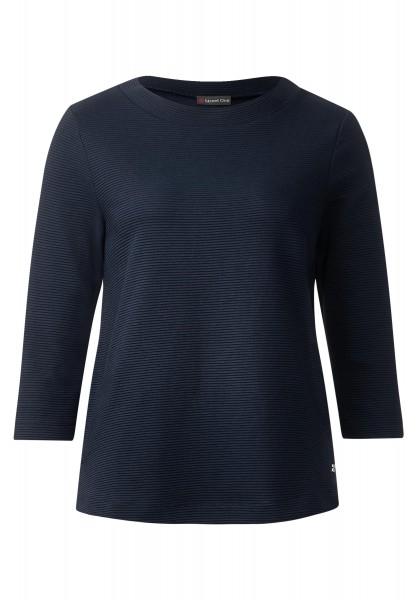 Street One - 3/4-Arm Rippshirt Melli in Night Blue