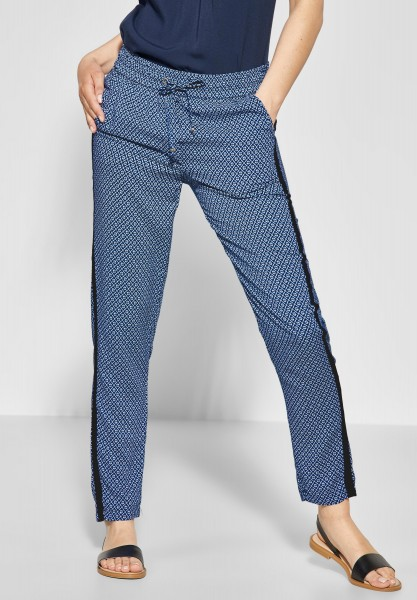 CECIL - Joggpants mit Print Chelsea in Deep Blue