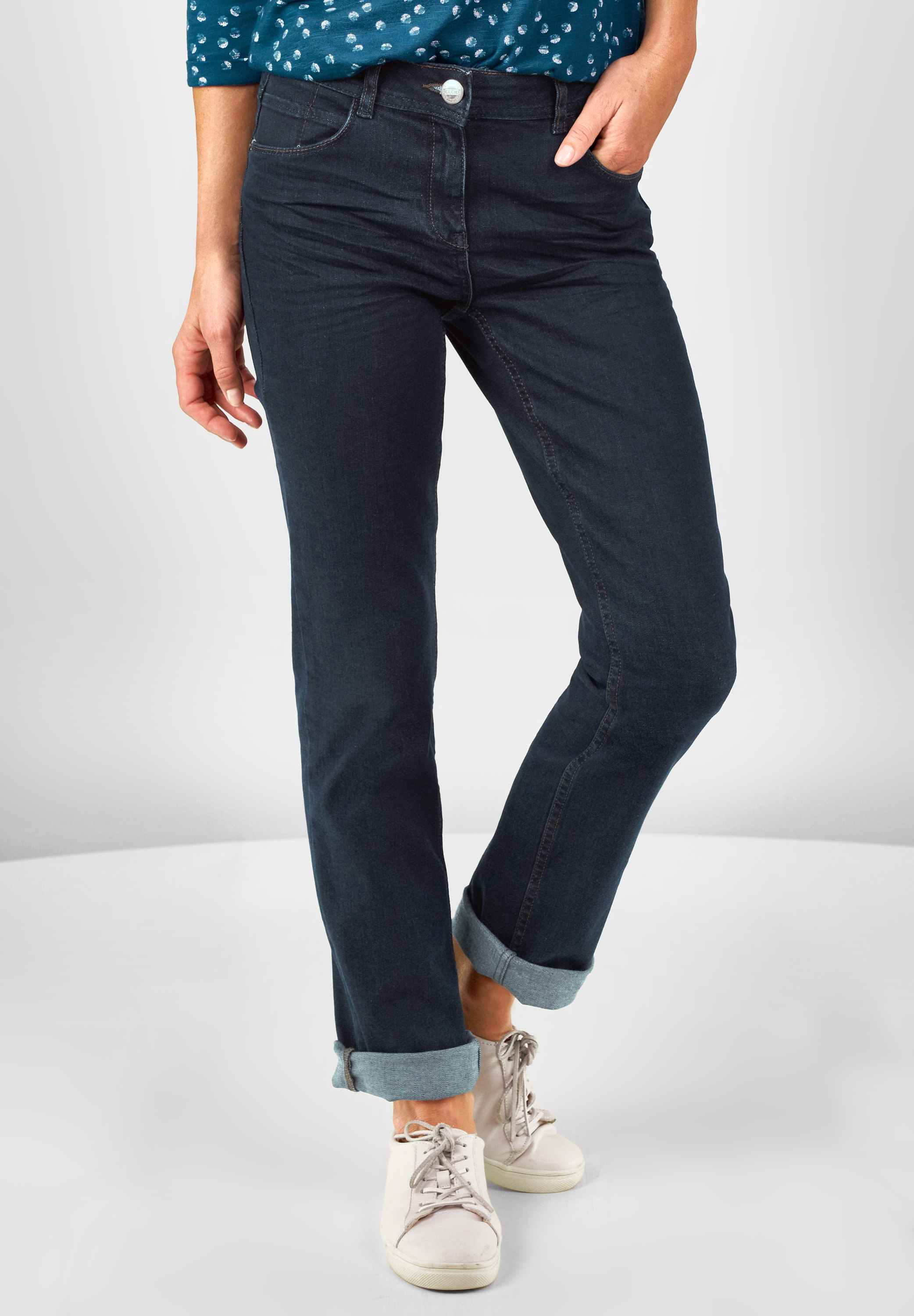 CECIL Regular Fit Jeans Toronto Rinsed Wash