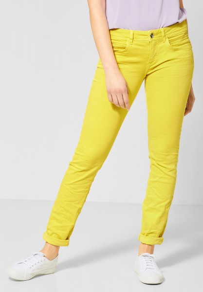 Street One - Colour Denim Crissi in Shiny Yellow Soft Wash