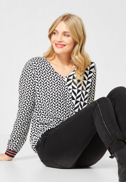 Street One - Bluse mit Mustermix in Black