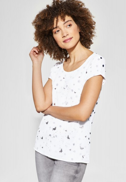 Street One - 2in1 Chiffon Shirt in Off White
