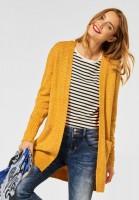Street One - Offene Strickjacke in Knit Sulphur Yellow Melange