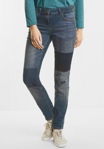 CECIL - Used Patched Denim Scarlett in Authentic Used Wash
