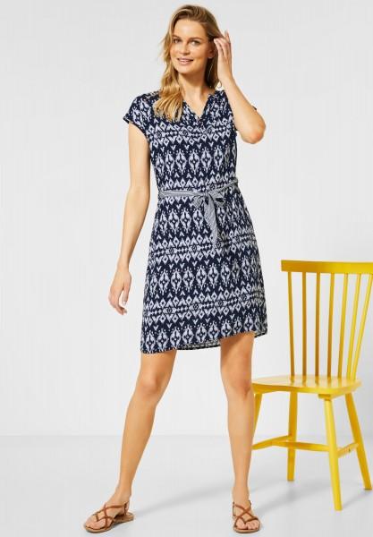 CECIL - Kleid mit Ethno-Muster in Deep Blue